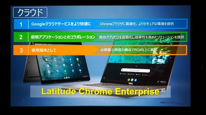 Chrome OSを搭載したLatitude Chrome Enterprise