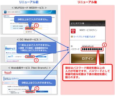 mufg カード web サービス