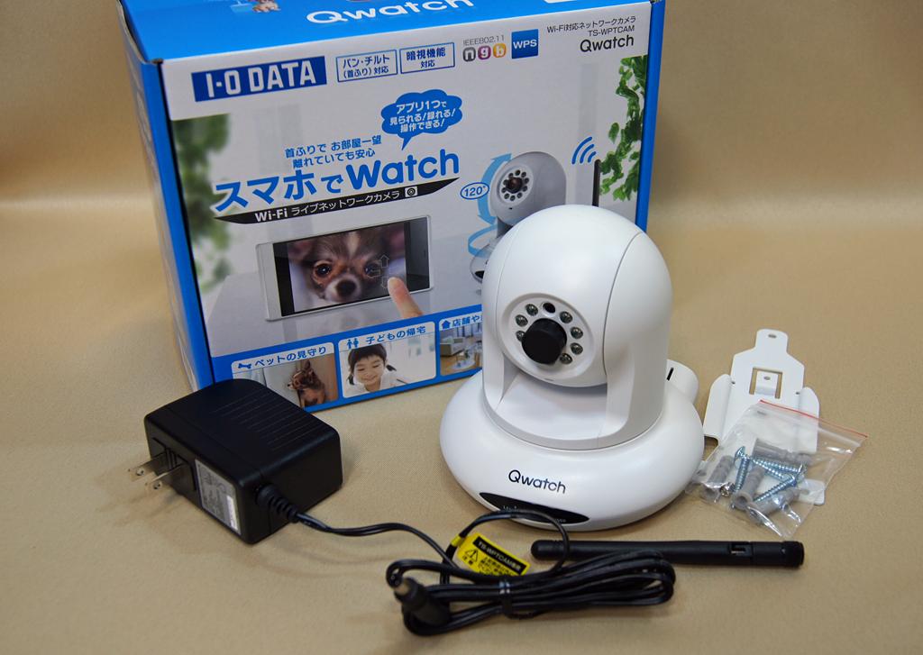 パン・チルト対応のワイヤレスWebカメラ アイ・オー・データ機器「Qwatch TS-WPTCAM」(1/19)