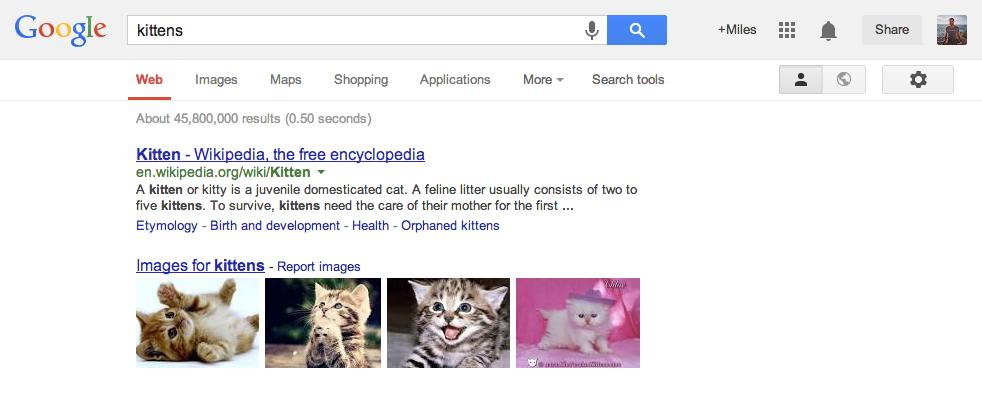 ページ上部右側にあるのが「アップランチャー」(Google Search公式ブログより画像転載)
