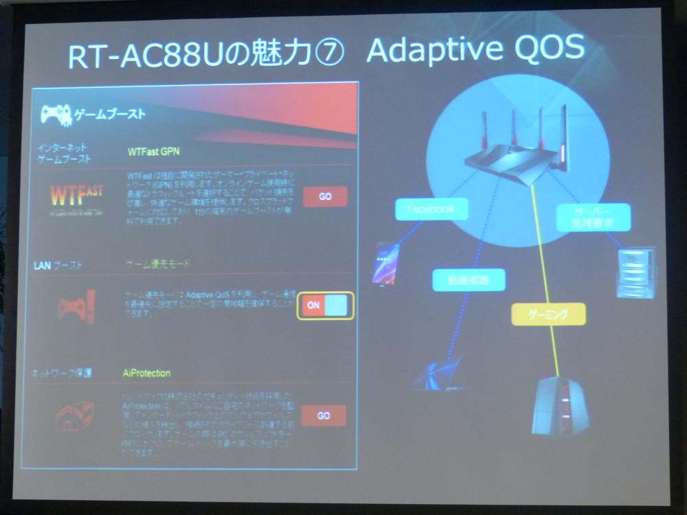 NitroQAM対応により11acで最大2167Mbps、ASUSがゲーミング無線
