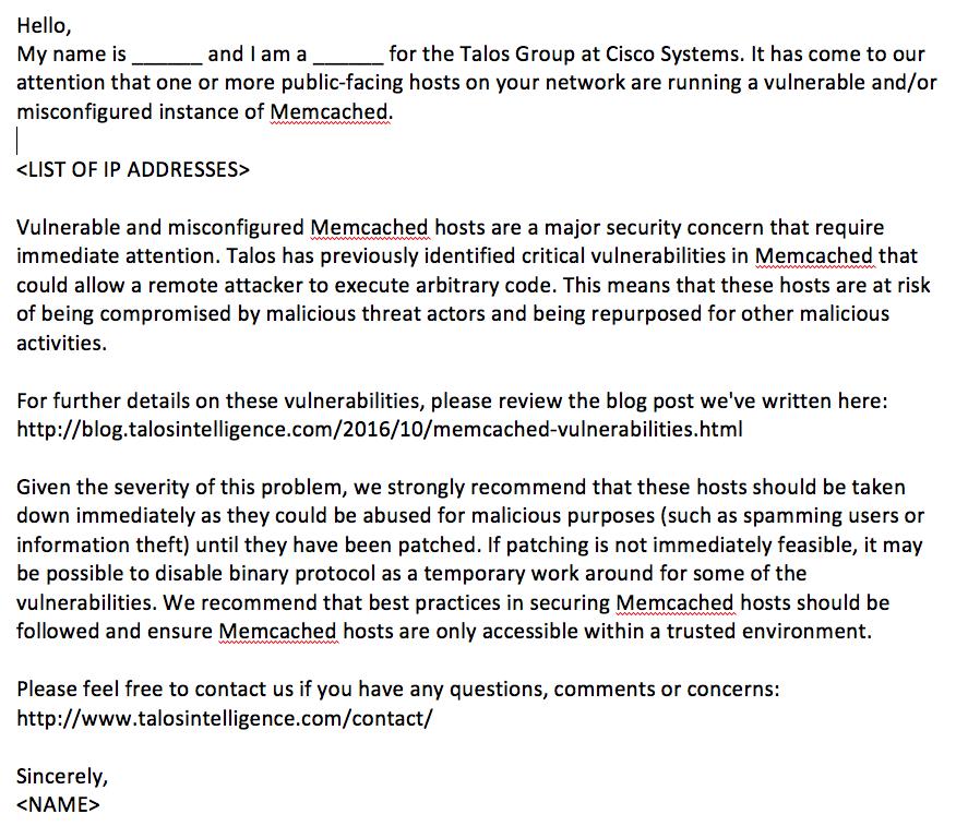 海外セキュリティ 脆弱なまま運用されている memcached ciscoが