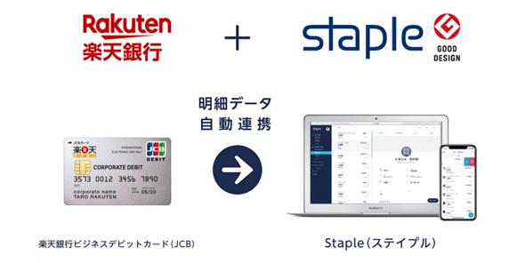 楽天銀行、無料でクラウド型経費精算サービス「Staple」を使えるプラン提供開始