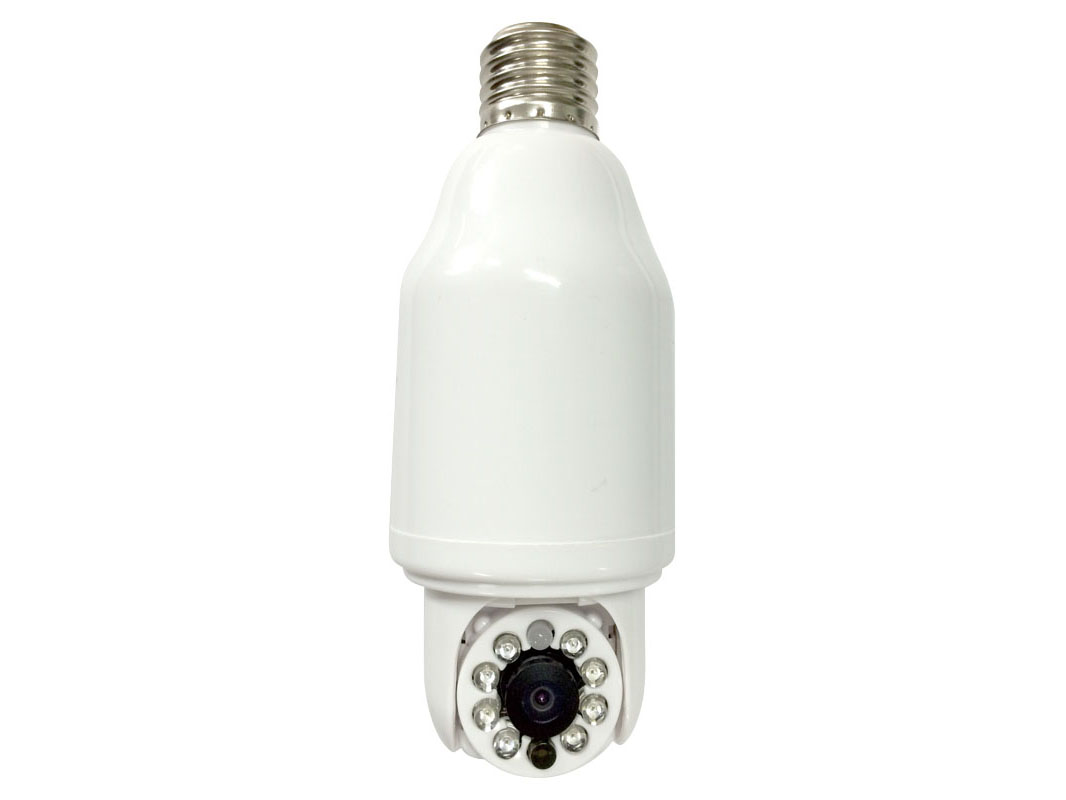 電球ソケットに取り付けるライブカメラ、最大10台をスマホで管理